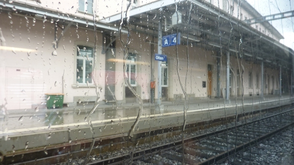 Pissing with rain in Olten